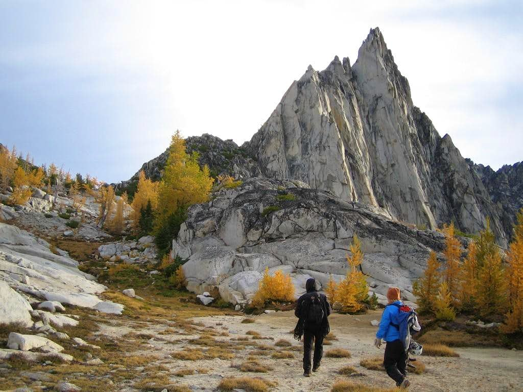 Approaching the West Ridge