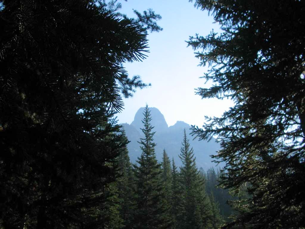 Shot of Liberty at start of trail