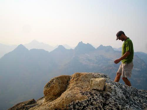 Walking on the summit