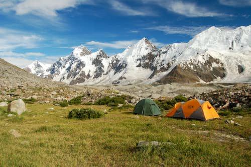 Base Camp on the North Side of the Hispar Glacier