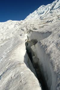 Crevasse near the base of Haigutum East
