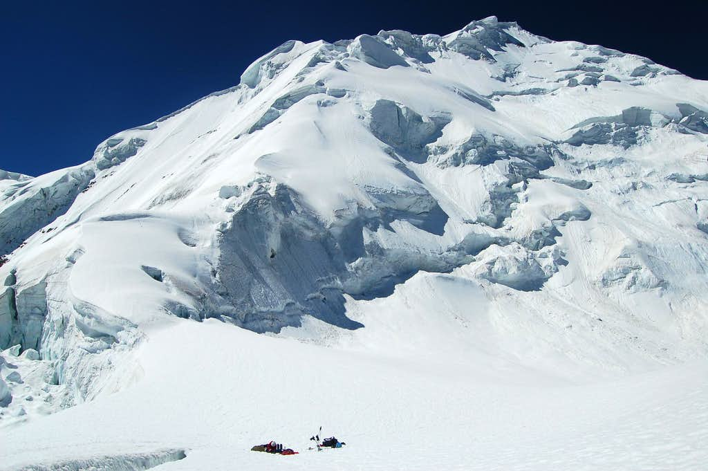 High camp on Haigutum East at 5150m