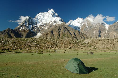 North Face of Makrong Chhish (6607m) from Bitanmal