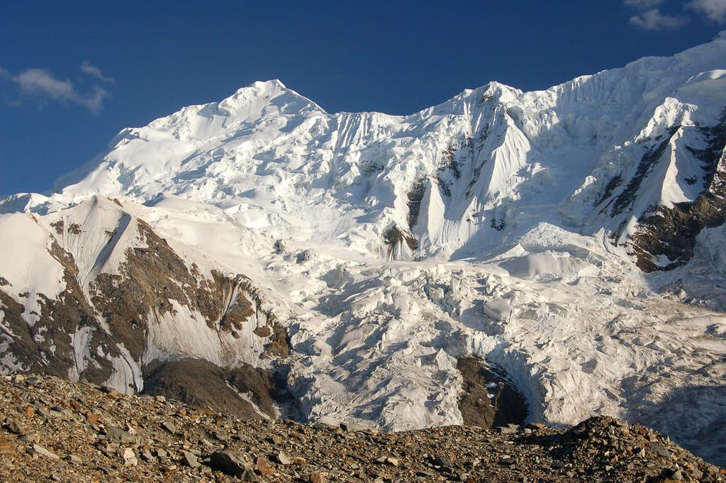 Haigutum East from our base camp on the north side of the Hispar Glacier