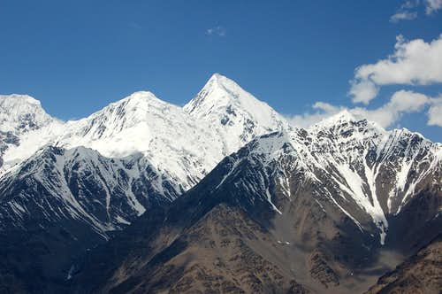 Shimshal Whitehorn from the base camp of Yazghil Sar