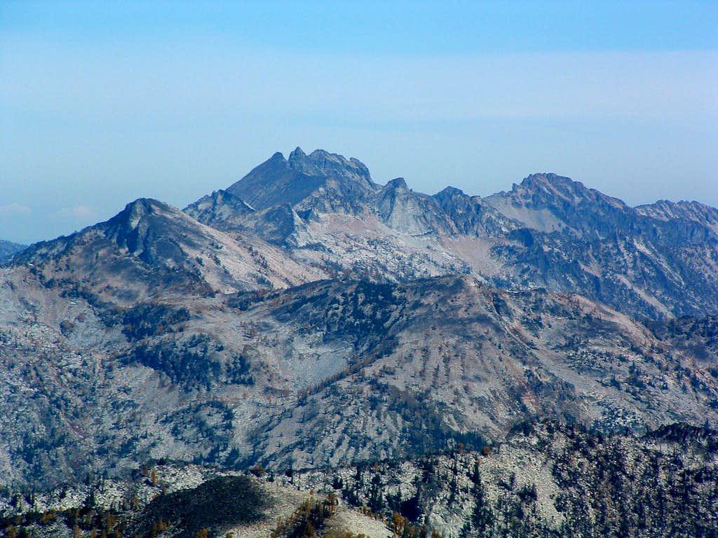 The Shard & Chaffin Peaks from Mt Jerusalem