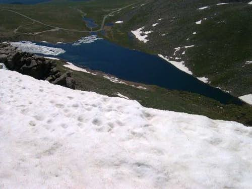 summit lake from Mount Spalding