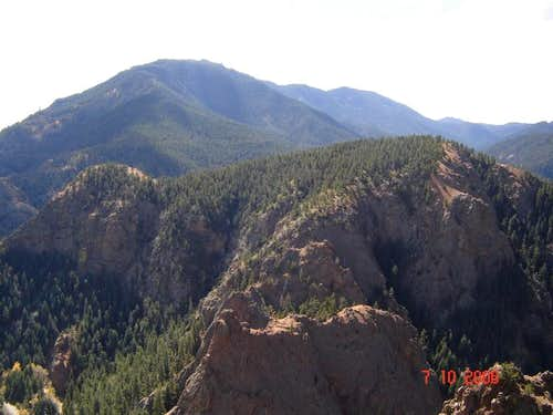 From across the cañon
