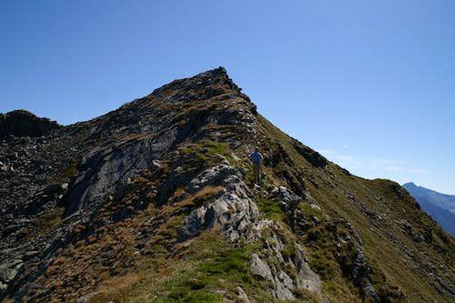 On the west ridge to Kleine Kreuzspitze