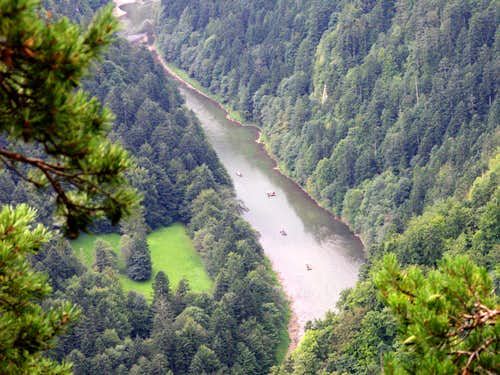 The Dunajec river...