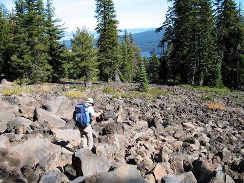 Volcanic talus