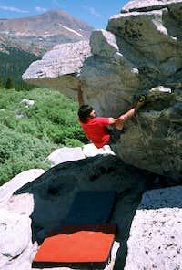 Bouldering below Dana