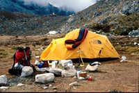 Moraine camp