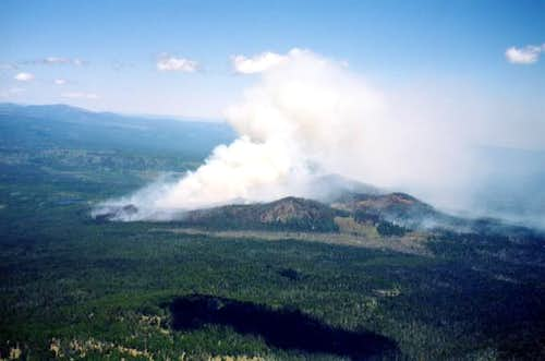 Link Fire from North Ridge of...