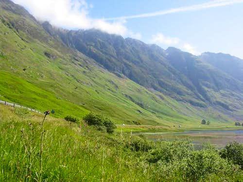 A summer shot of the Aonach...