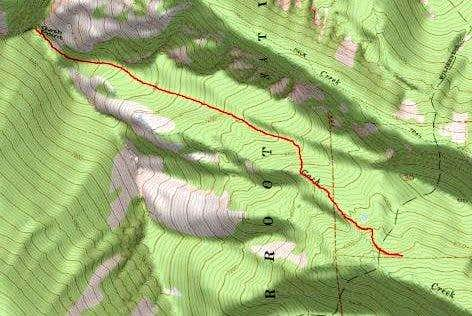 3D Topo of Gash Point Route
