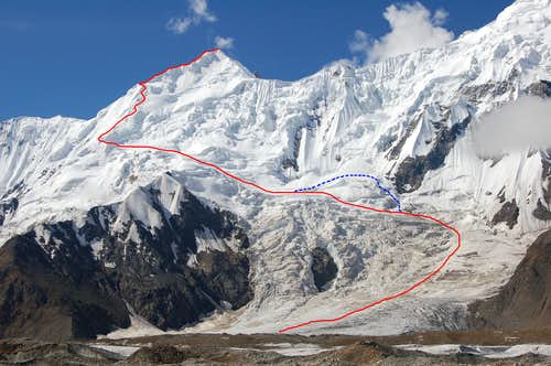 The route we took to the summit
