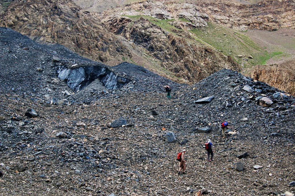 Crossing the Adver Glacier