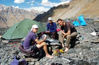 Cards at Shimshal Whitehorn s base camp