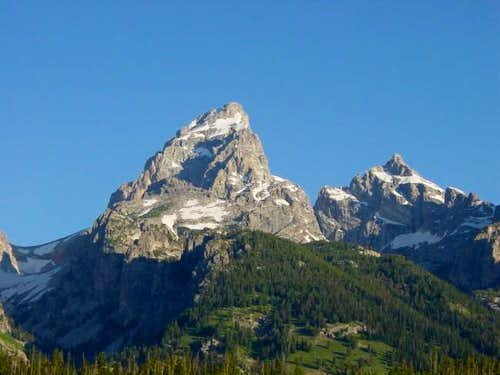 From the east, Grand Teton...