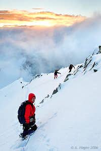 Sunrise on the NE ridge