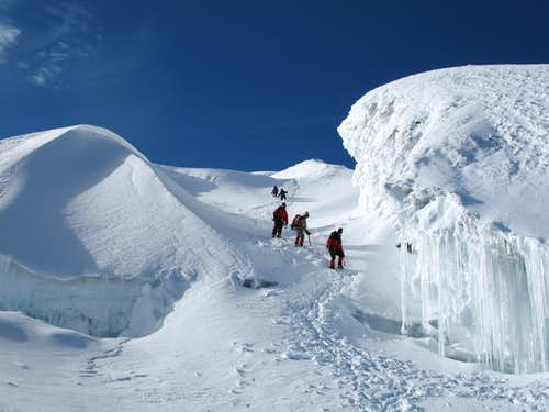 on the normal route of cotopaxi at 5400 m