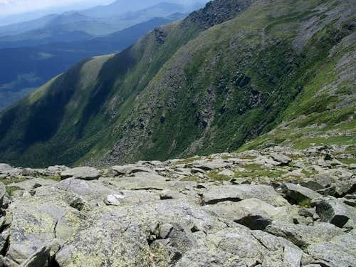 View into the Tuckerman Ravine
