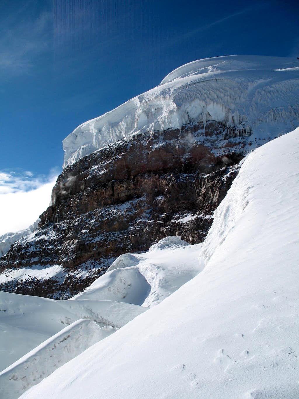 on the normal route of cotopaxi at 5500 m