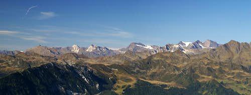 Summit view Roßkopf: Ötztal Alps