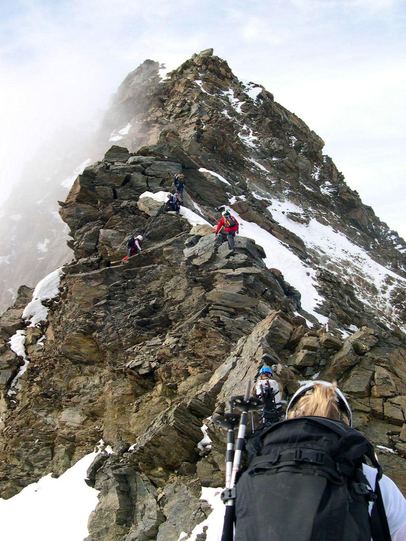 NNE's ridge of Lagginhorn