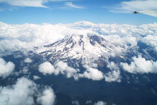 Mount Rainier Airplane shot