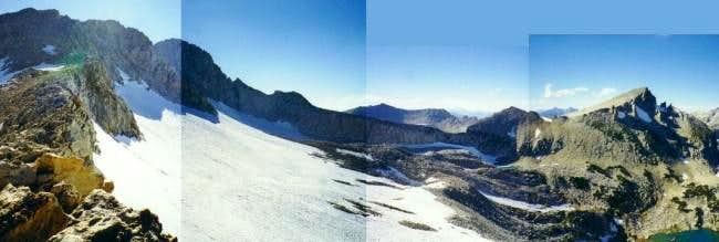 Conness Glacier and the north...