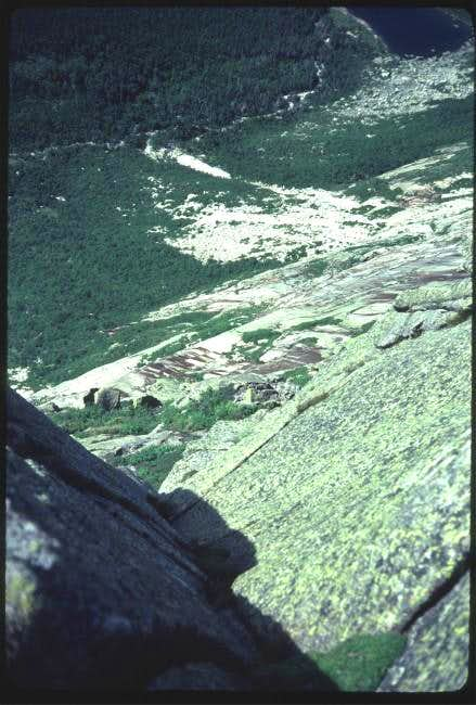 Chimney Pond from 4th pitch...