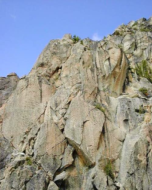 2 climbers at the belay...
