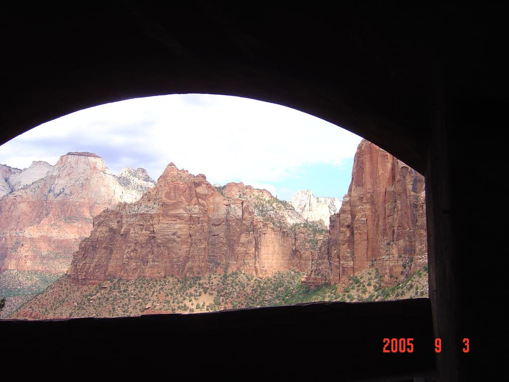 View inside a tunnel