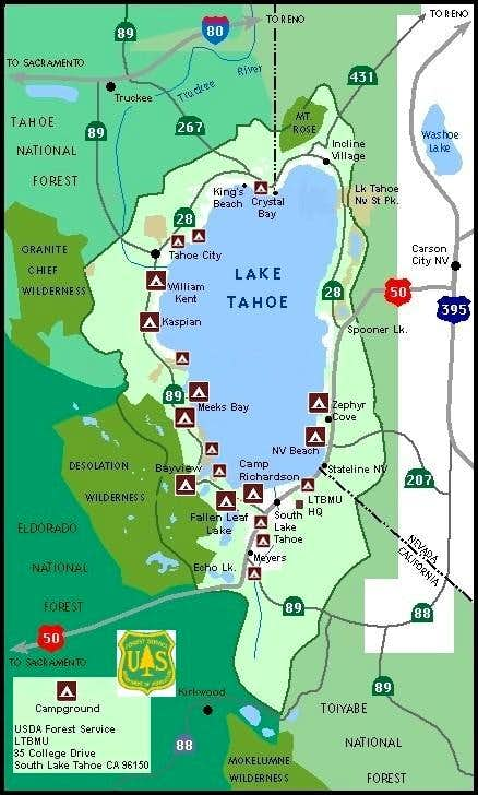 Lake Tahoe Basin Map