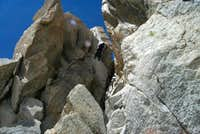 Me abseiling a passage on the...