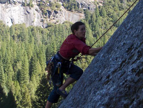 Alpine Bunny Climbs Chiounard Crack