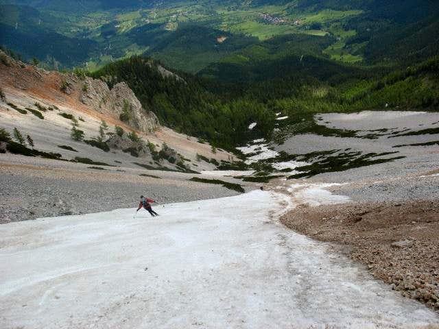 Skiing Breite Ries in June