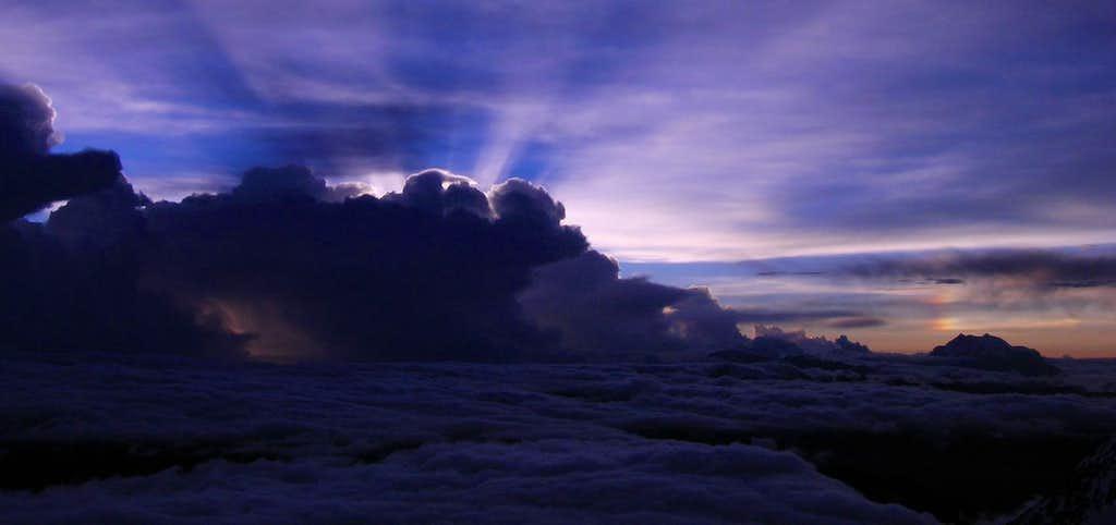 Sunrise over Illimani