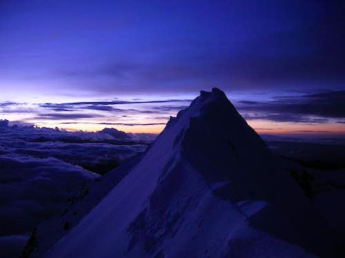 Summit at sunrise