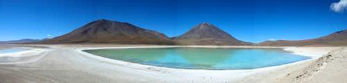 Laguna verde panorama