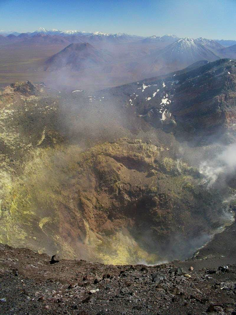 Over the crater