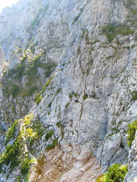 The start of the summit wall