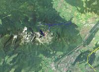 Hochstaufen from Space