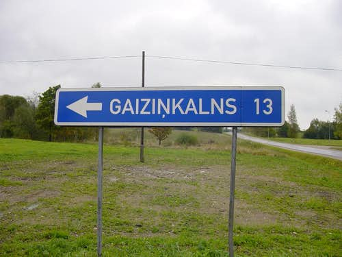 Route sign