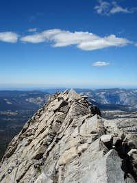 The spicy part of the west ridge of Gray Peak