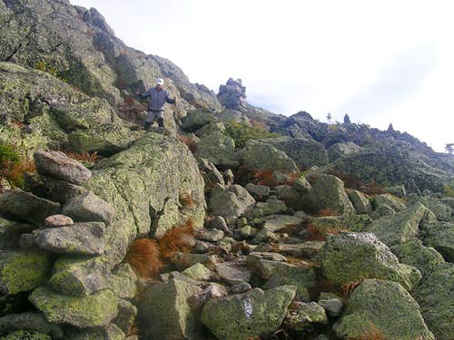 Near the summit