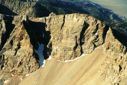 Baker Peak from Wheeler Peak