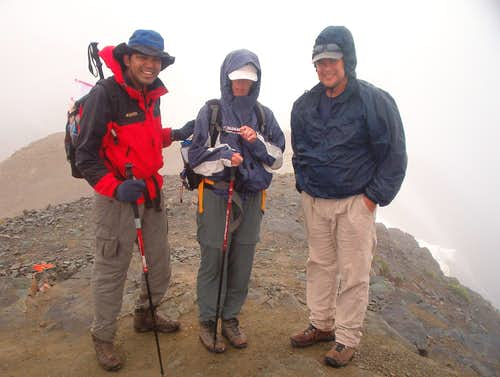 A wet summit photo